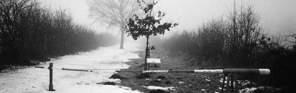 Grenzübergang Ellunder Kirchweg bei Fröslev, Grenzübergänge Dänemark Deutschland, Kodak Tri X, Leica M Elmarit 2.8 28 asph.